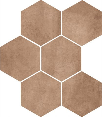 Dlažba Earth mat 21x18,2 cm, série Clays Hexagon
