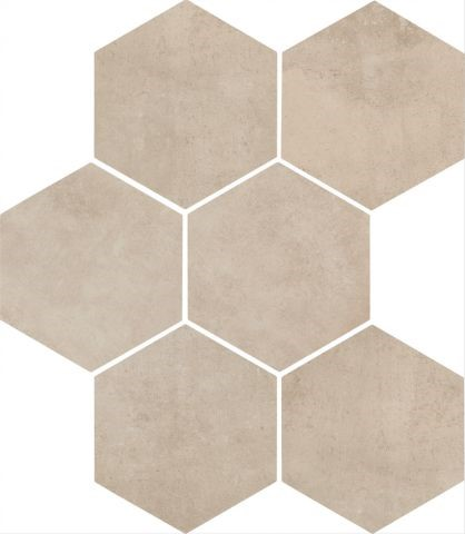 Dlažba Shell mat 21x18,2 cm, série Clays Hexagon