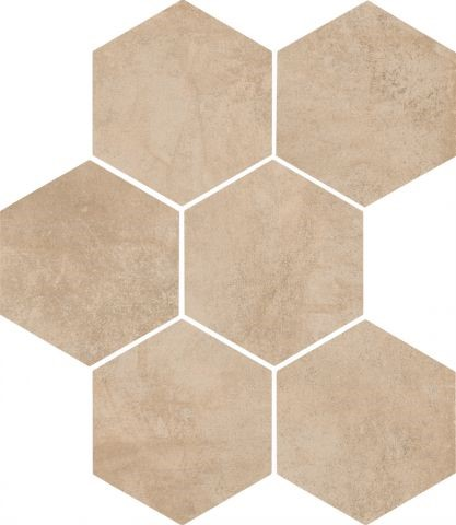 Dlažba Sand mat 21x18,2 cm, série Clays Hexagon